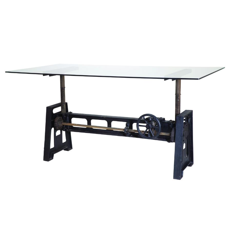 tavolo orient gallery alto vetro
