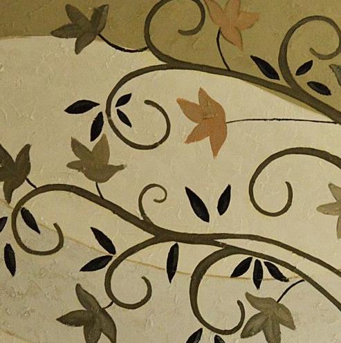 dettaglio dipinto su tela albero della vita