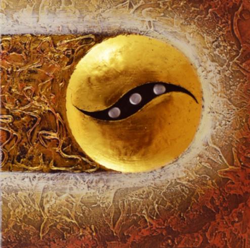 dettaglio dipinto su tela occhio di horus