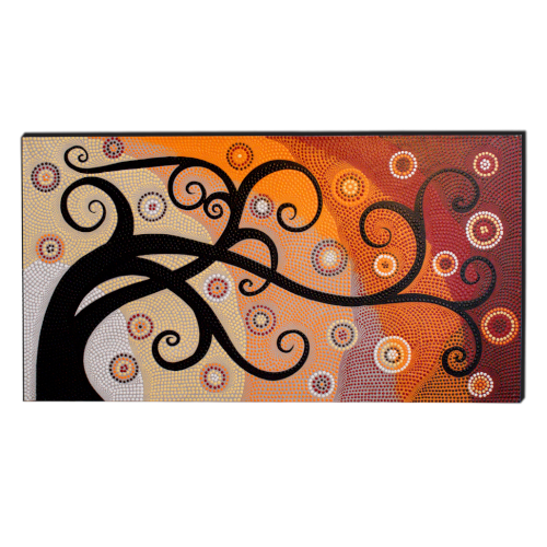 dipinto su tela aborigeno albero della vita