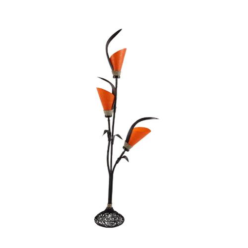 lampada foglia cocco arancio