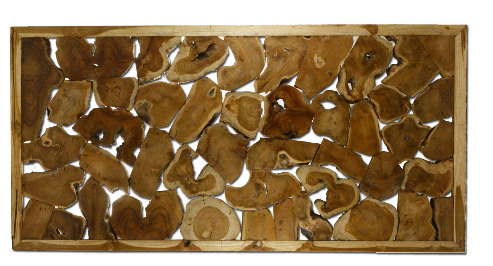 pannello da parete in legno di teak