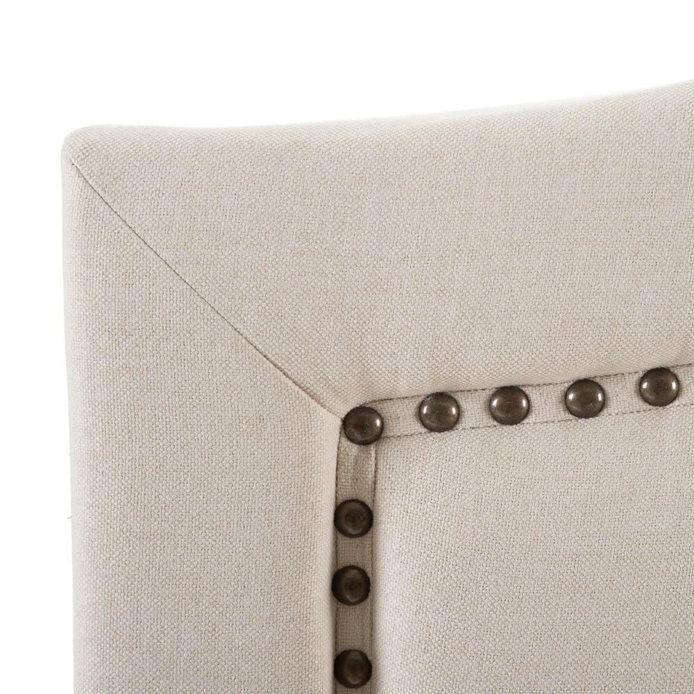 testiera letto bianco tessuto