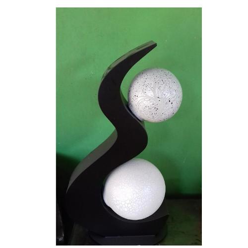 lampada doppia sfera luna