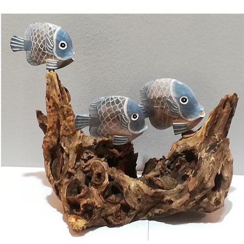 pesciolini su legno gamal