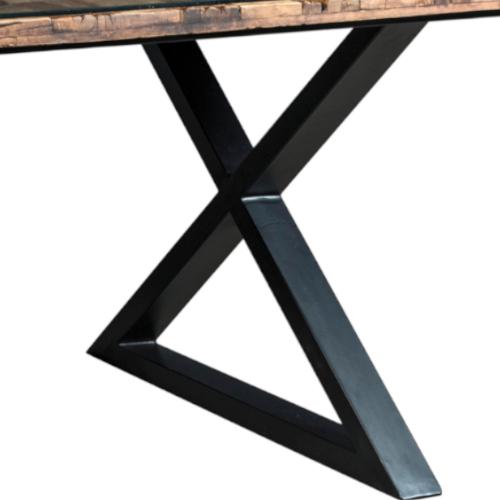 piede in ferro tavolo cross