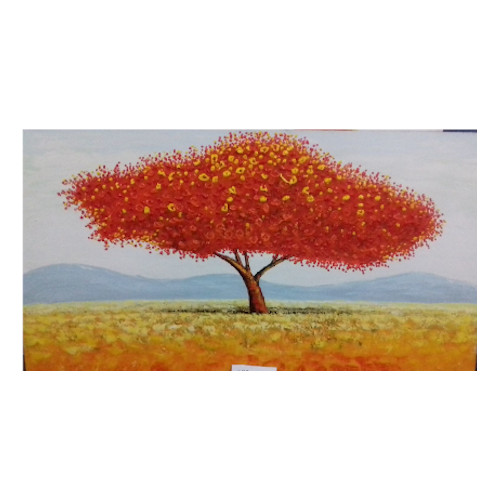 dipinto albero rosso
