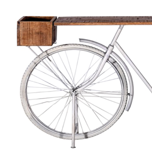 consolle bike bianca decapata dettaglio