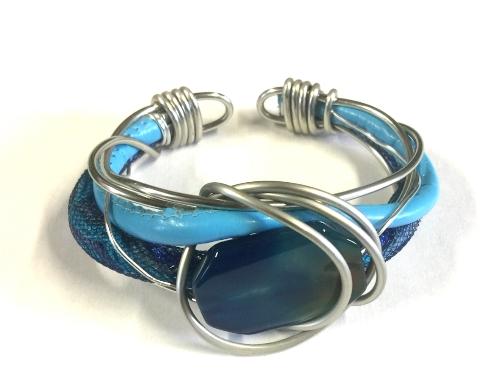 bracciale agata blu