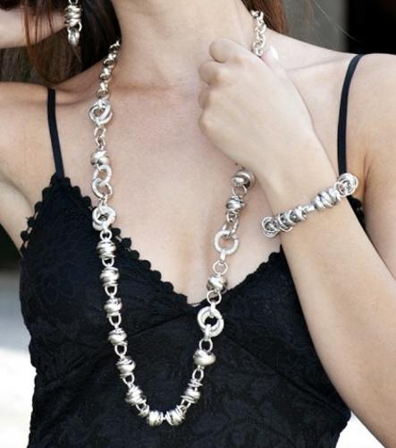 collana marianna acciaio e allumionio