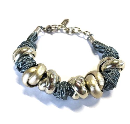 bracciale tessuto alluminio anodizzato iris