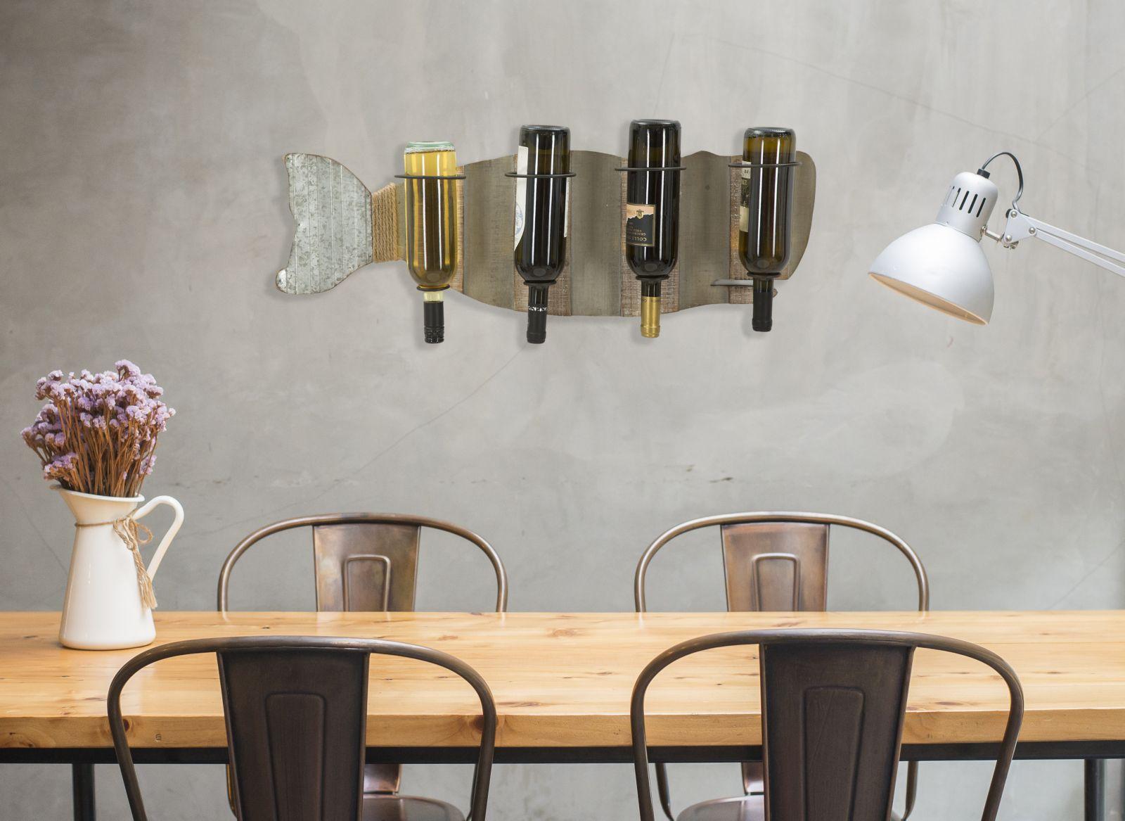 Modern desks with cement wall